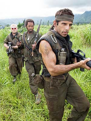 Jack Black, Robert Downey Jr., Ben Stiller in Tropic Thunder