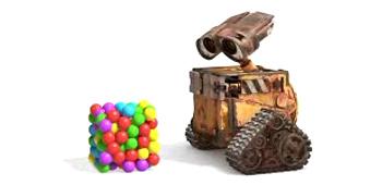 Wall-E Meets Bouncy Balls!