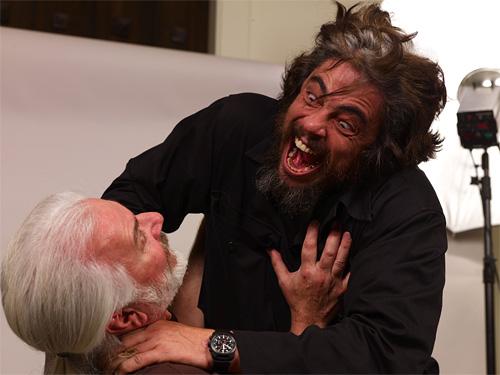 Benicio Del Toro as the Wolfman