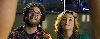 Seth Rogen and Elizabeth Banks in Zack and Miri Make a Porno