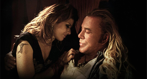 Marisa Tomei and Mickey Rourke in The Wrestler