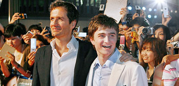 David Heyman and Daniel Radcliffe