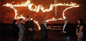 Flaming Batman Symbol